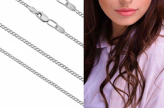 Женская цепочка из серебра