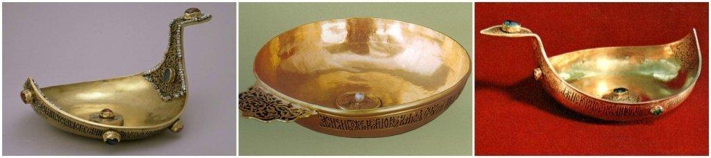 Старинная посуда из золота
