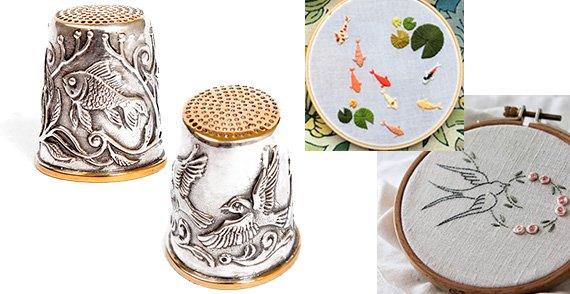 Женские серебряные сувениры