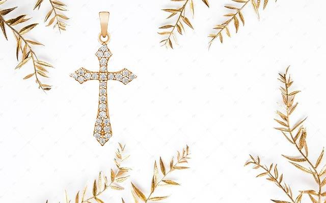 Бриллиантовый крестик