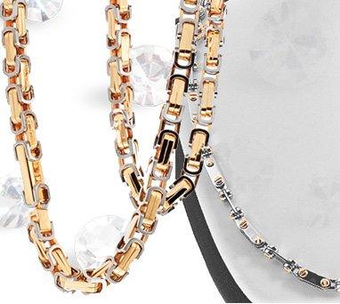 Золотые цепочки с бриллиантами