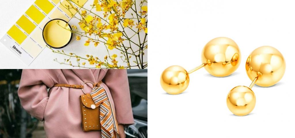 Золотые серьги пусеты шарики