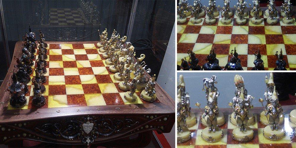 ювелирная композиция «Шахматы»