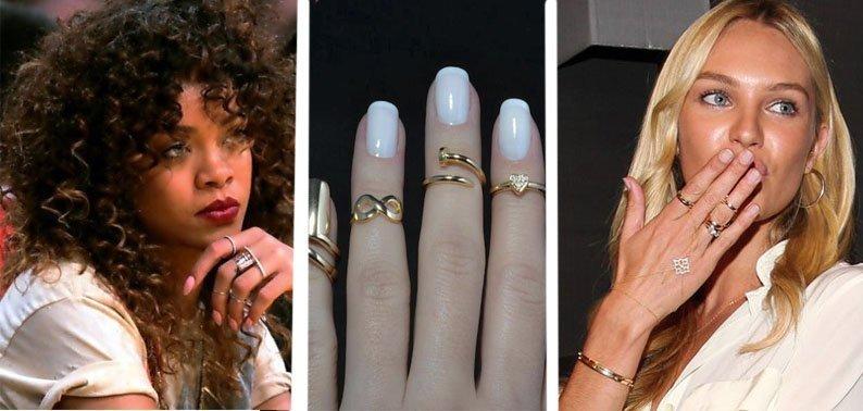 Золотые кольца Рианны и Кэндис Свейнпол