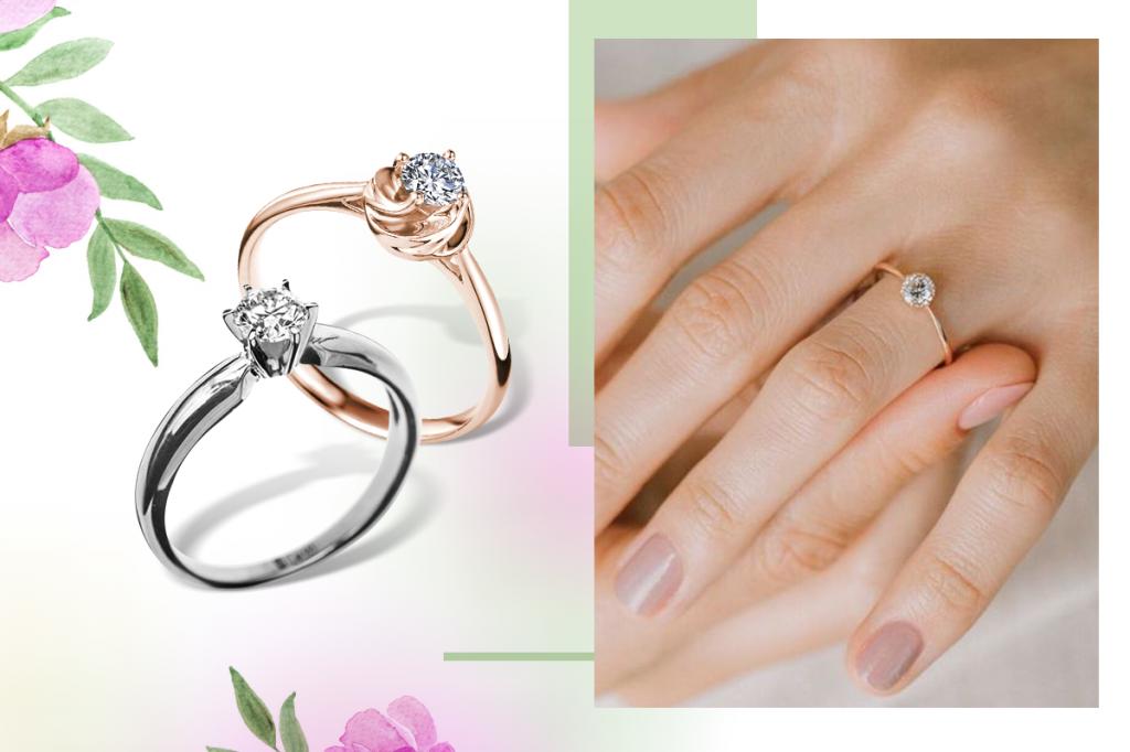 Помолвочные кольца с бриллиантами