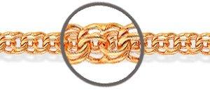 Цепь золотая плетение бисмарк
