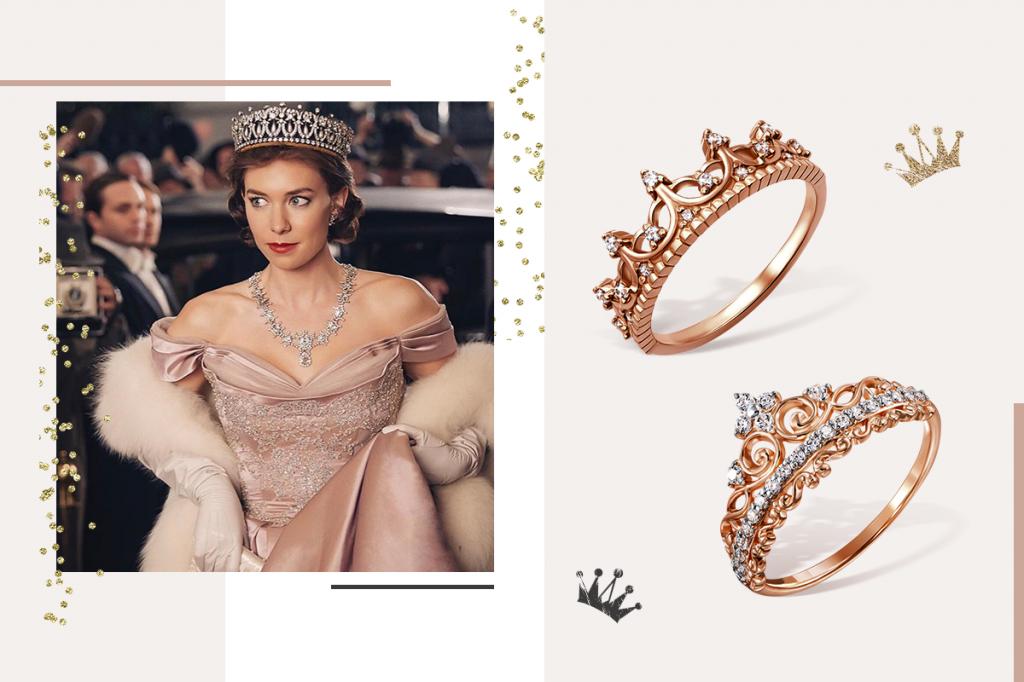 Кольца золотые Короны