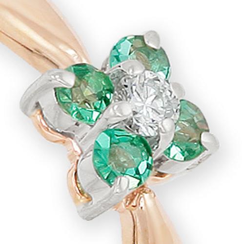 Кольцо с драгоценными камнями от бренда Виола