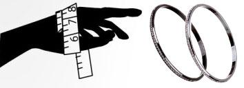 Определение размера браслета без застежки