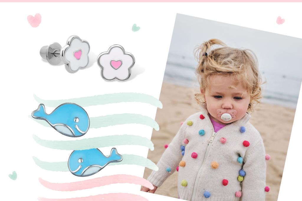 Сережки детские киты