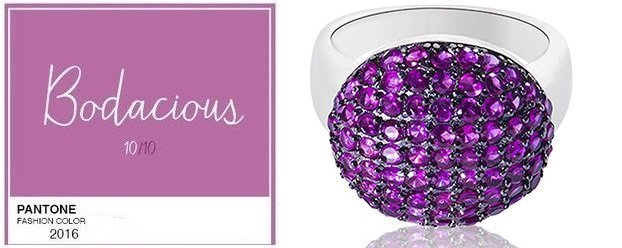 Серебренное кольцо с кристаллами Swarovski
