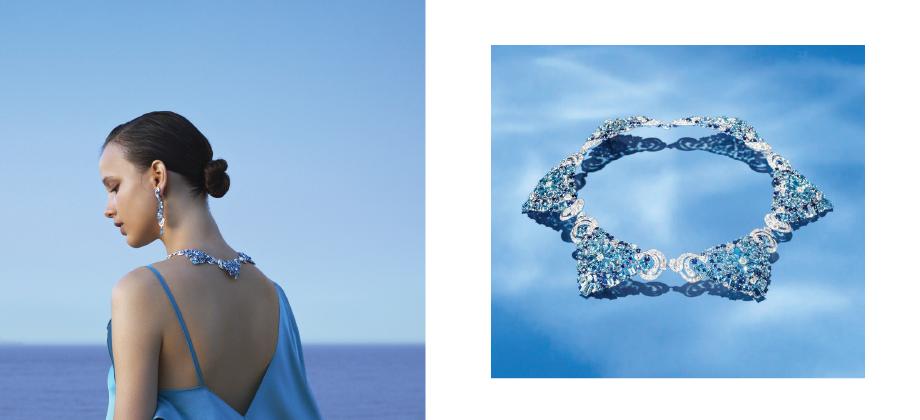 Колье с голубыми камнями от Van Cleef & Arpels