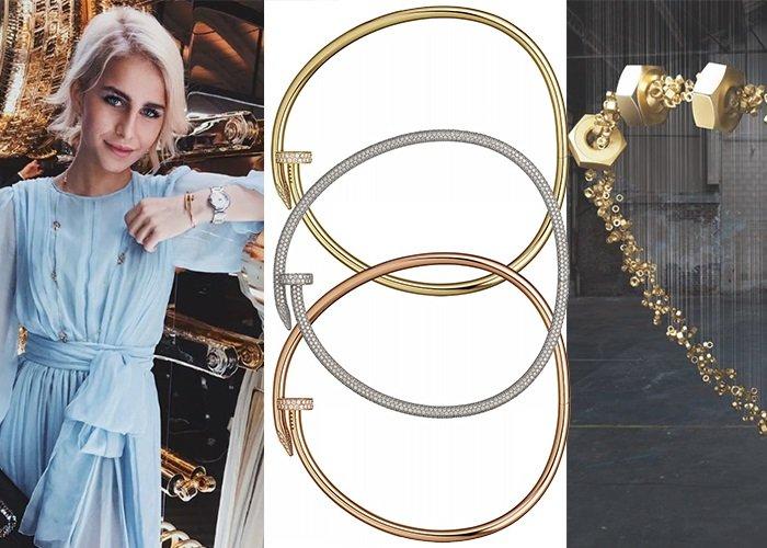 Золотые чокеры и браслеты Cartier