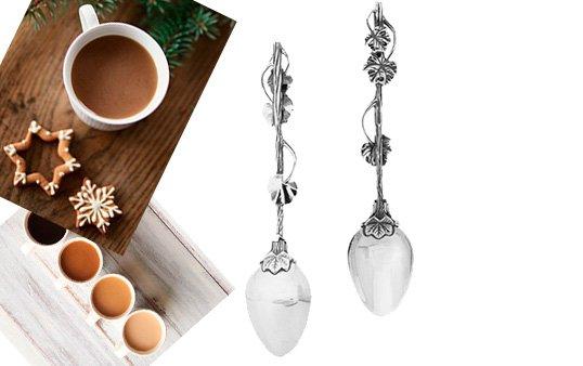 Серебряная кофейная ложечка