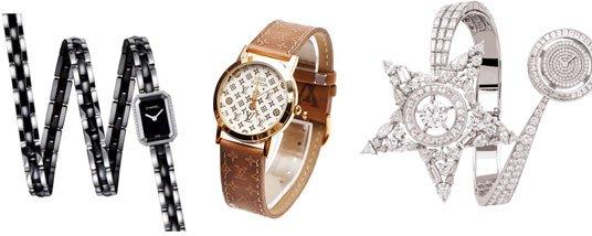Наручные часы от Louis Vuitton и Chanel