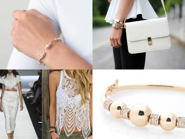 Женские браслеты жесткие из золота
