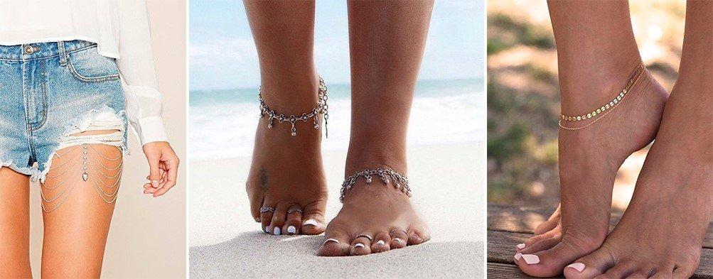 Модные браслеты для ног