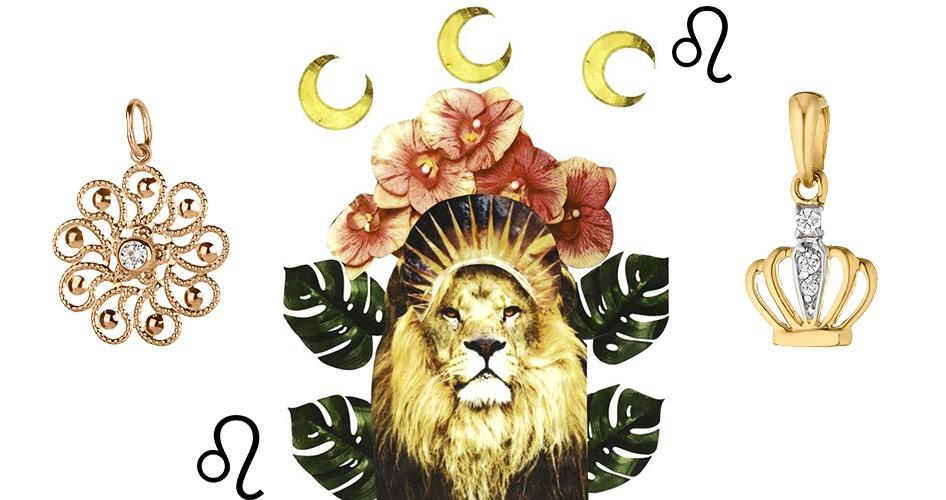Кулон корона золото