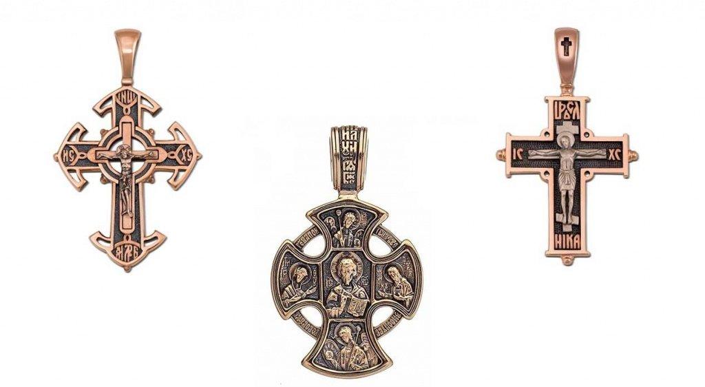 Золотые православные крестики