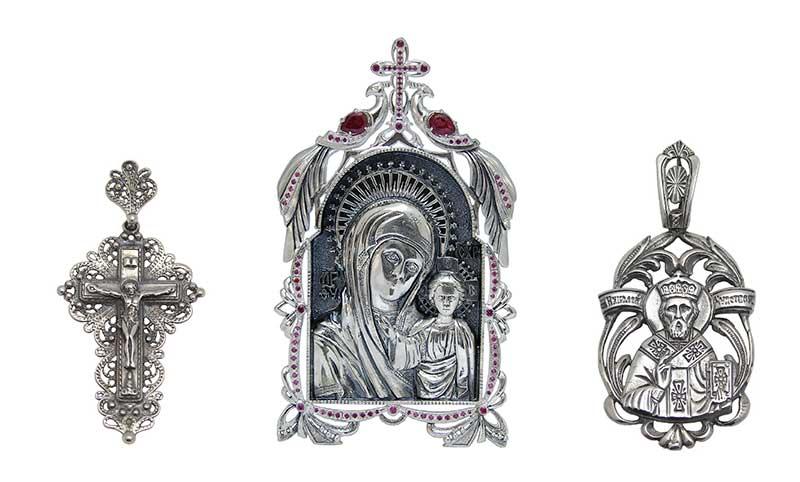 Украшения и сувениры из серебра Брюс