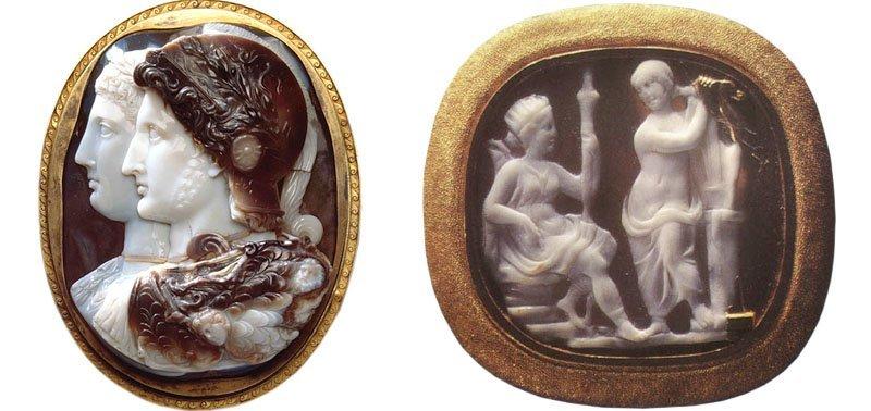 Брошь-камея Персей и Андромеда
