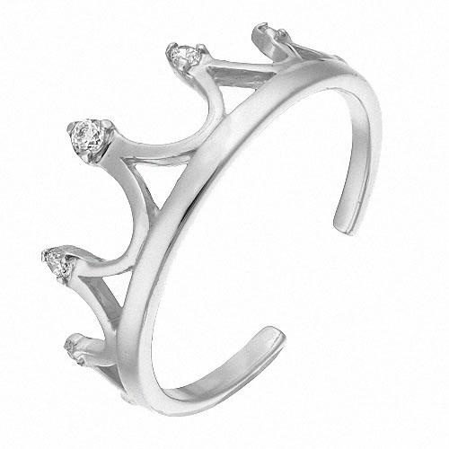 Кольцо золотое в виде короны для мамы малыша