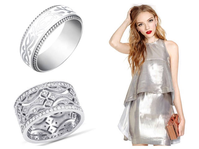 Серебряные кольца американка