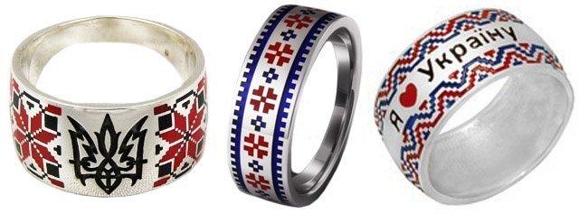 Кольца-вышиванки из серебра