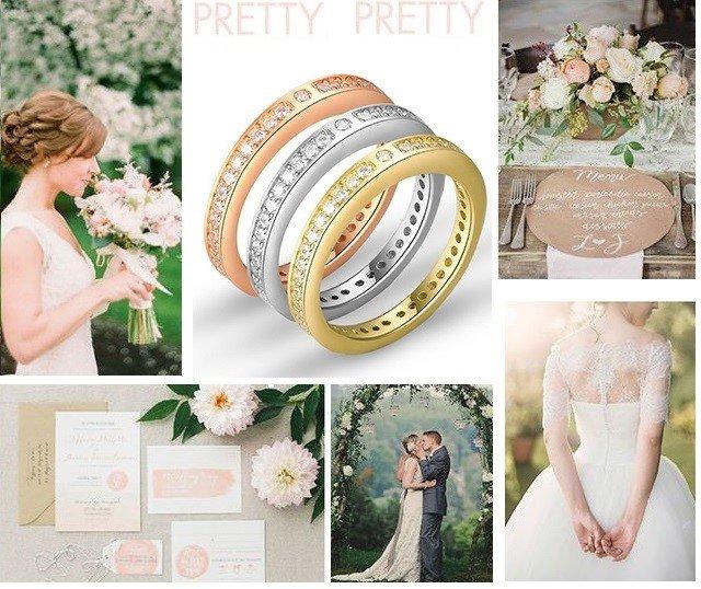 обручальные кольца разного цвета