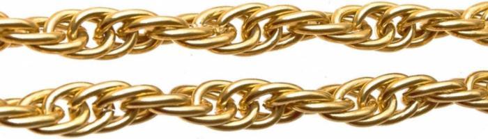 Кордовый (халат) тип плетения цепочек