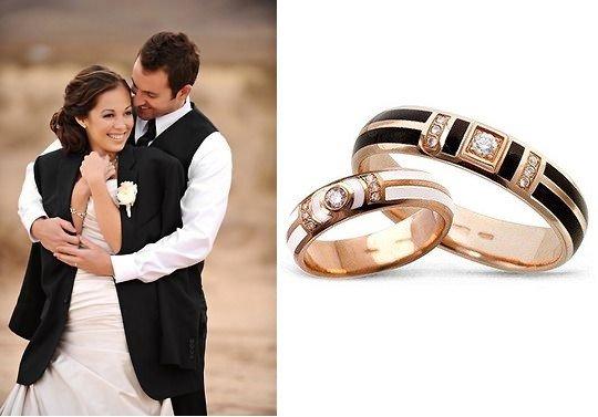 Золотые кольца с бриллиантами и эмалью