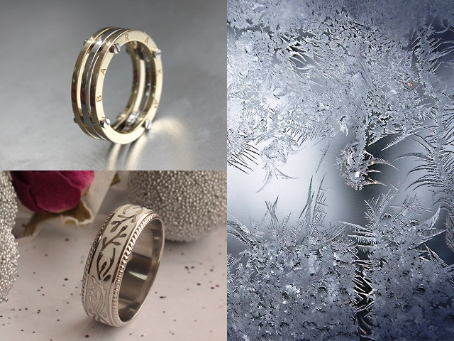 Плоские обручальные кольца - американки