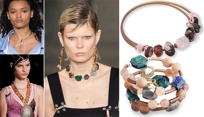 Модные украшения с минералами