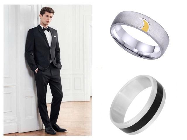 Мужские обручальные кольца с эмалью