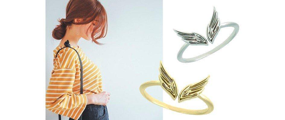 Золотые кольца с крыльями