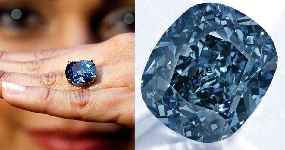 Синий бриллиант Голубая луна Жозефины