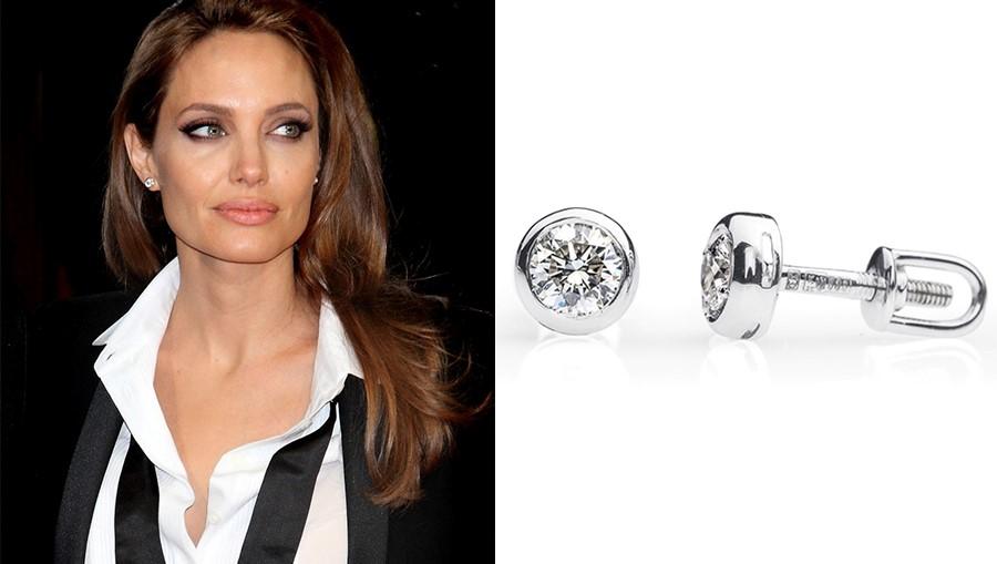 Анджелина Джоли в серьгах с бриллиантами