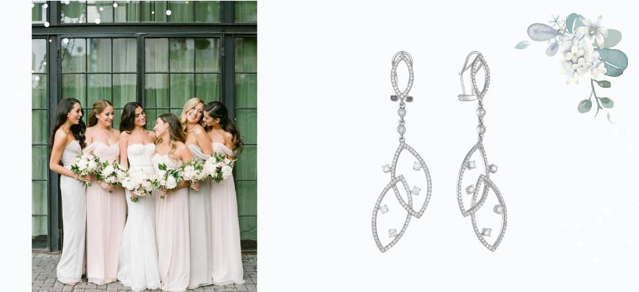 Сережки-люстры свадебные