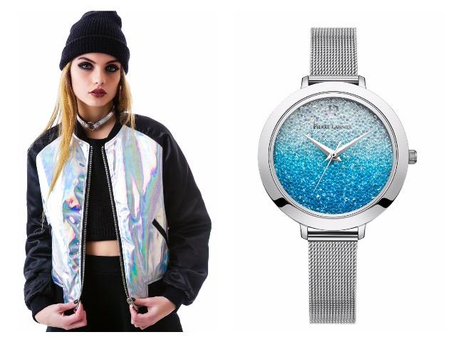 Женские серебристые часы