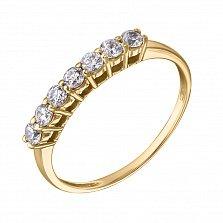 Кольцо в желтом золоте Диана с кристаллами Swarovski