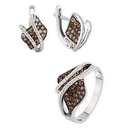Золотой гарнитур с бриллиантами Магда 000017712