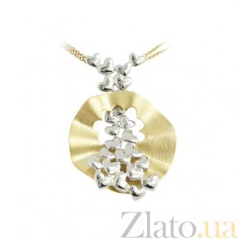 Колье из комбинированного золота Валентинка 2Л557-0074