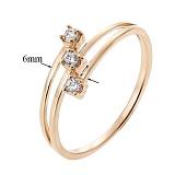 Золотое кольцо с цирконием Дар любимой