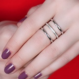 Серебряное кольцо Корсика с фианитами