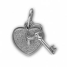 Подвес из белого золота Ключ от сердца