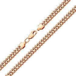 Браслет из красного золота в плетении ромб 000128097