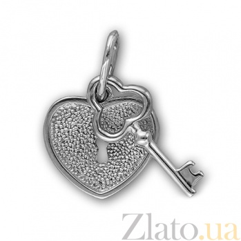 Подвес из белого золота Ключ от сердца 000022759