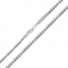 Серебряная цепь Эдверта в плетении колосок