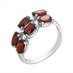 Серебряное кольцо с гранатами 000063454