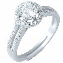 Серебряное кольцо Вербена с фианитами